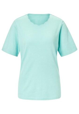Classic Basics Shirt mit gebogtem Ausschnitt kaufen