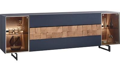LEONARDO Lowboard »LIV«, Massivholzkacheln enthalten, Breite 210 cm, wahlweise mit... kaufen