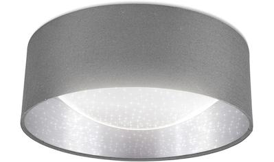 B.K.Licht LED Deckenleuchte, LED-Modul, Neutralweiß, LED Stoff-Deckenlampe mit Sternenhimmeleffekt inkl. 12W LED-Platine neutralweiße Lichtfarbe 1.200lm Grau-Silber kaufen
