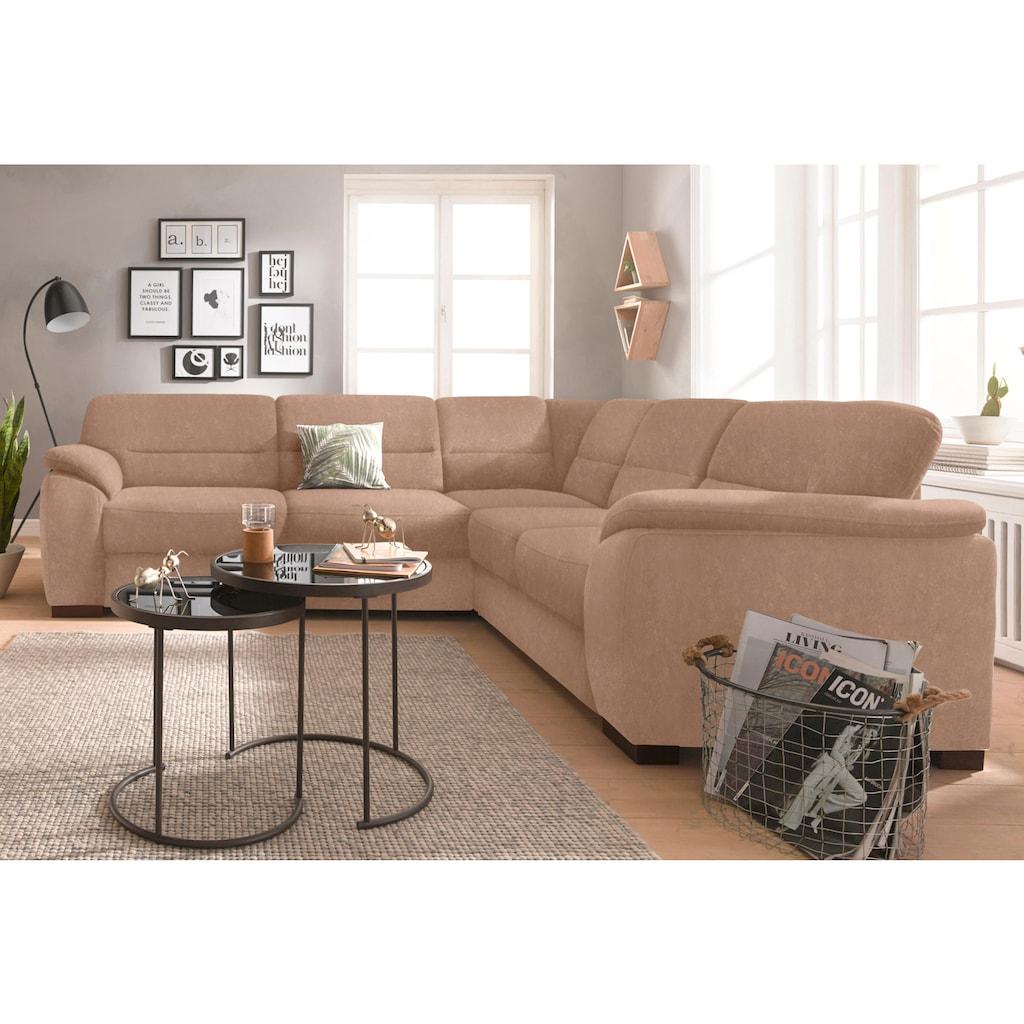 sit&more Ecksofa, wahlweise mit Bettfunktion und Schubkasten