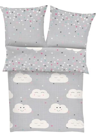 s.Oliver Junior Kinderbettwäsche »Clouds«, mit Wolken und Sternen kaufen