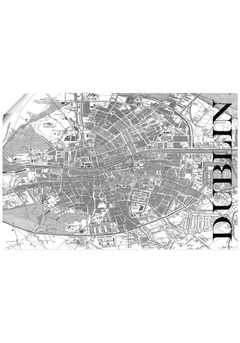 Artland Wandbild »Dublin Karte Straßen Karte«, Europa, (1 St.), in vielen Größen &... kaufen