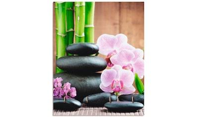Artland Schlüsselbrett »Spa Konzept Zen Steinen Orchideen« kaufen