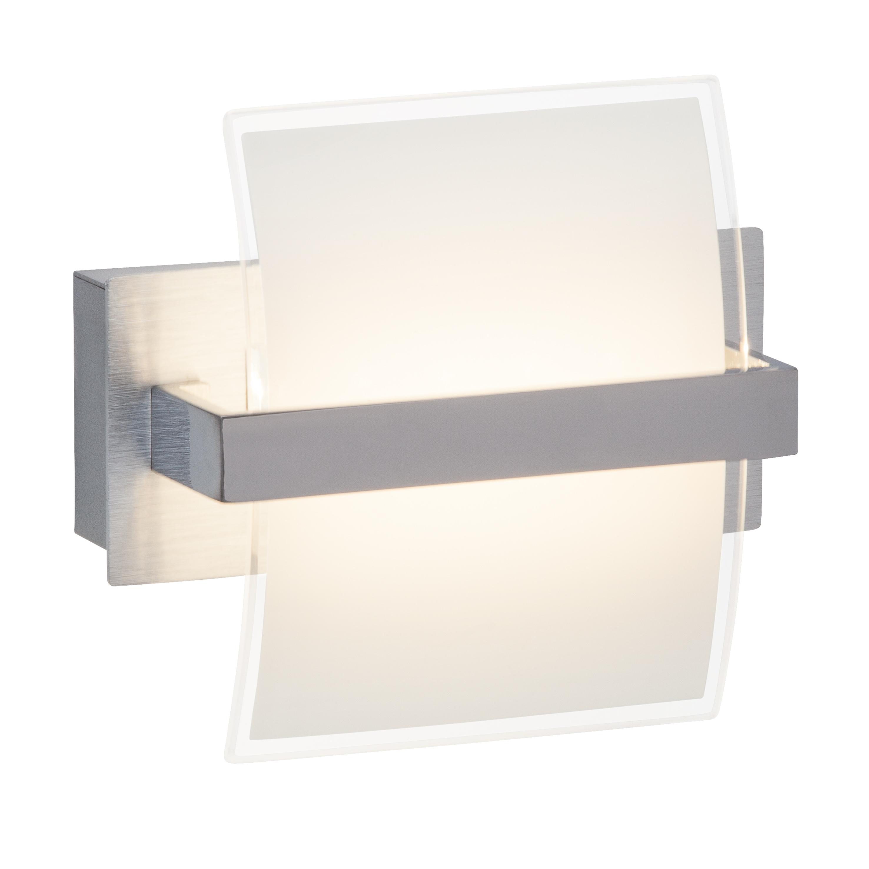 Brilliant Leuchten Trust LED Wandleuchte Schalter chrom