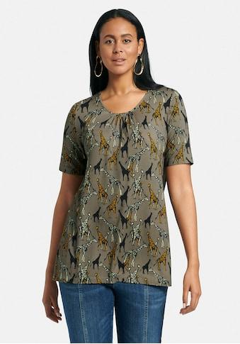 Emilia Lay Rundhalsshirt »Rundhalsshirt mit 1/2-Arm«, und Allover-Motiv kaufen