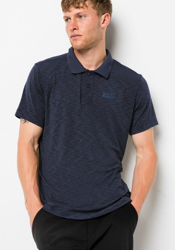 Jack Wolfskin Poloshirt »TRAVEL POLO MEN« | Sportbekleidung > Sportshirts > Poloshirts | Blau | JACK WOLFSKIN