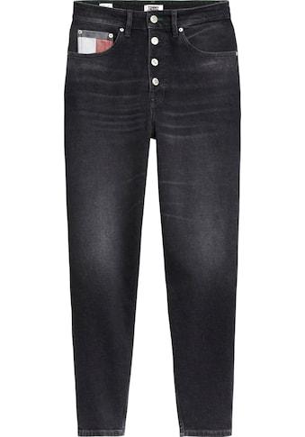 TOMMY JEANS Mom - Jeans »MOM JEAN HR TPRD BTN FLY SVBKC« kaufen