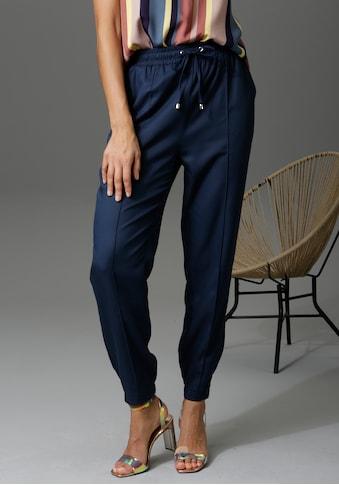 Aniston CASUAL Schlupfhose, mit Bundfalte - NEUE KOLLEKTION kaufen