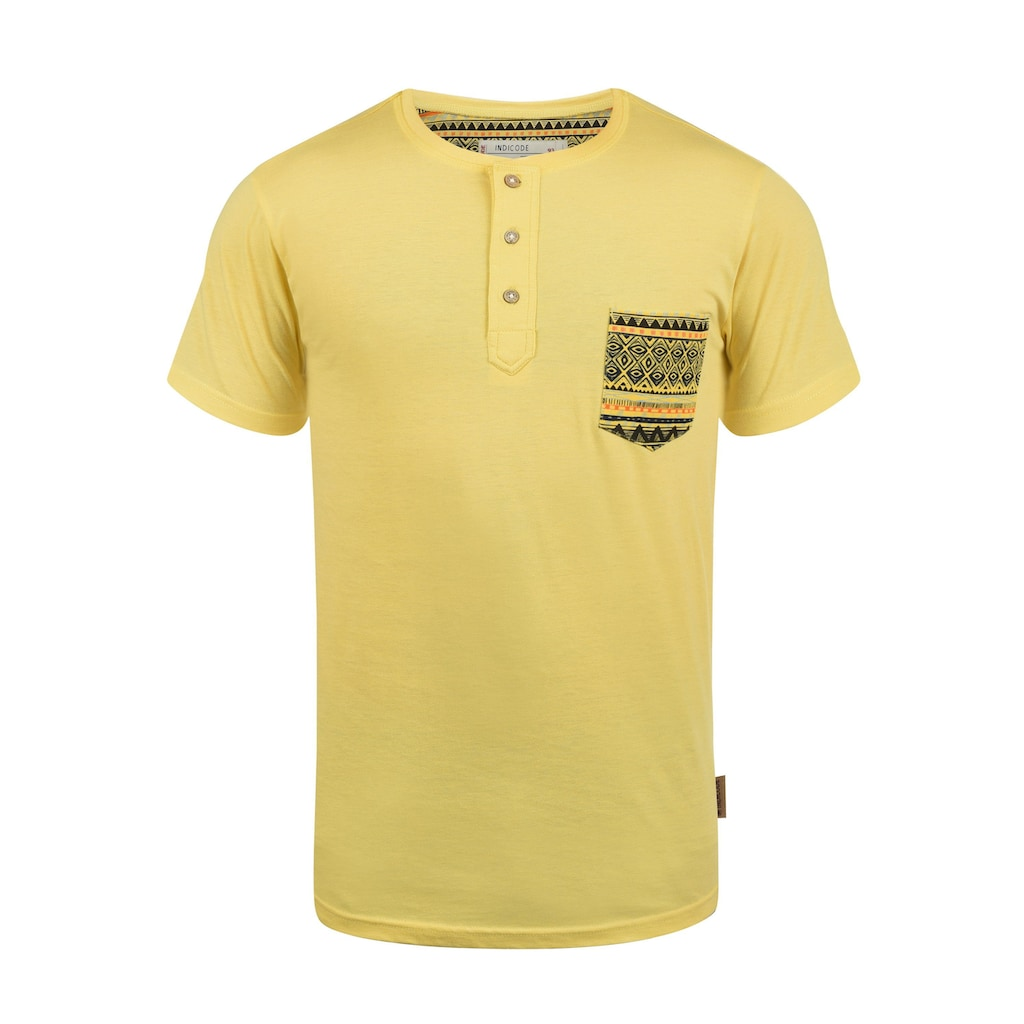 Indicode Rundhalsshirt »Art«, Kurzarmshirt mit Brusttasche