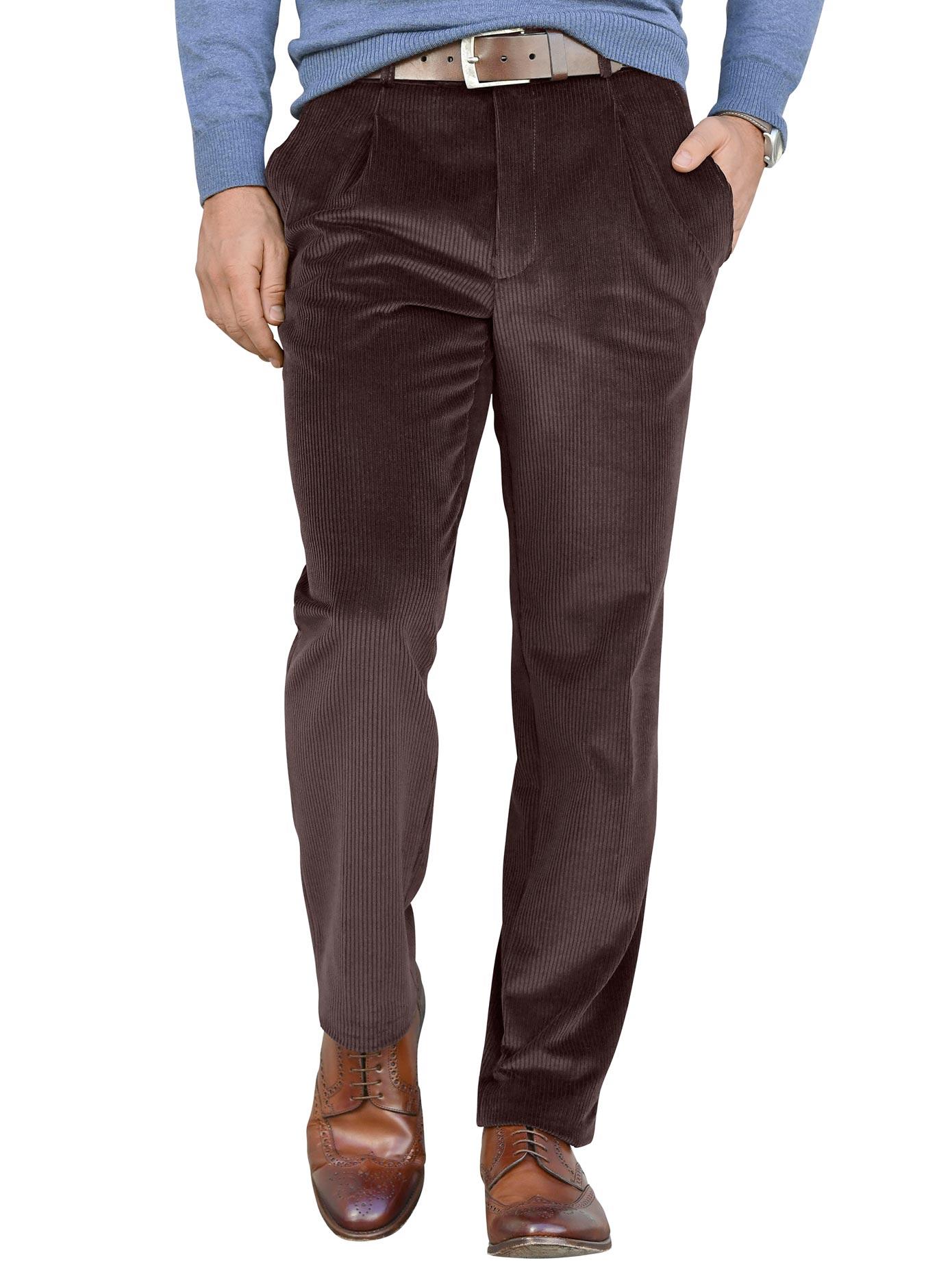 Classic Stretchcord-Hose aus dehnbarem Stretchcord | Bekleidung > Hosen > Cordhosen | Braun | Polyamid | Classic