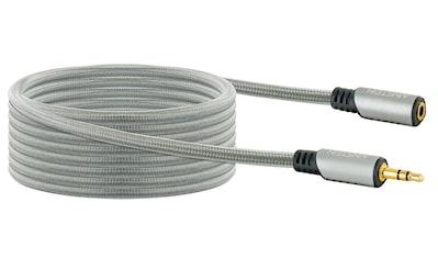 Schwaiger 3,5 mm Klinken Verlängerungskabel, Audio, AUX, Stecker - Kupplung »mit Knickschutz« kaufen