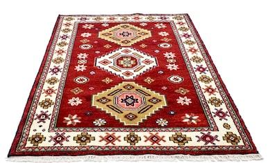 morgenland Wollteppich »Kazak Teppich handgeknüpft rot«, rechteckig, 18 mm Höhe kaufen