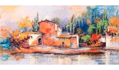 Home affaire Deco-Panel »LUIGI FLORIO / Case sul Lago«, 100/50 cm kaufen