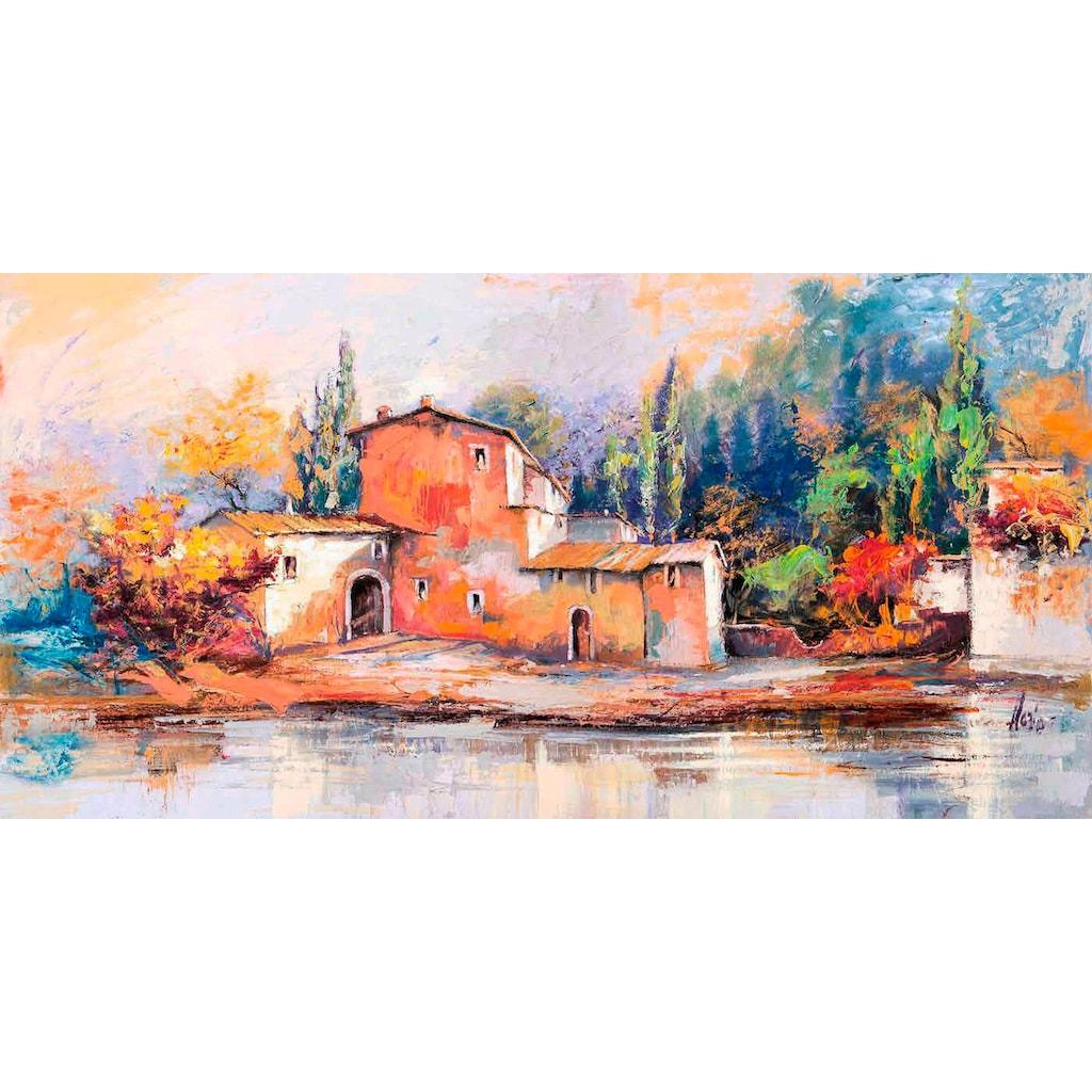 Home affaire Deco-Panel »LUIGI FLORIO / Case sul Lago«, 100/50 cm