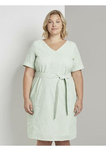TOM TAILOR MY TRUE ME Sommerkleid »Gestreiftes Kleid mit Bindegürtel« kaufen
