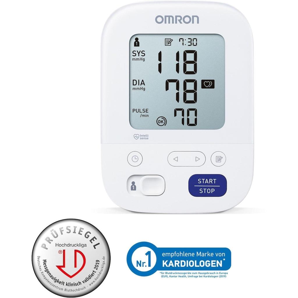 Omron Oberarm-Blutdruckmessgerät »X3 Comfort«, mit Bluthochdruckindikator