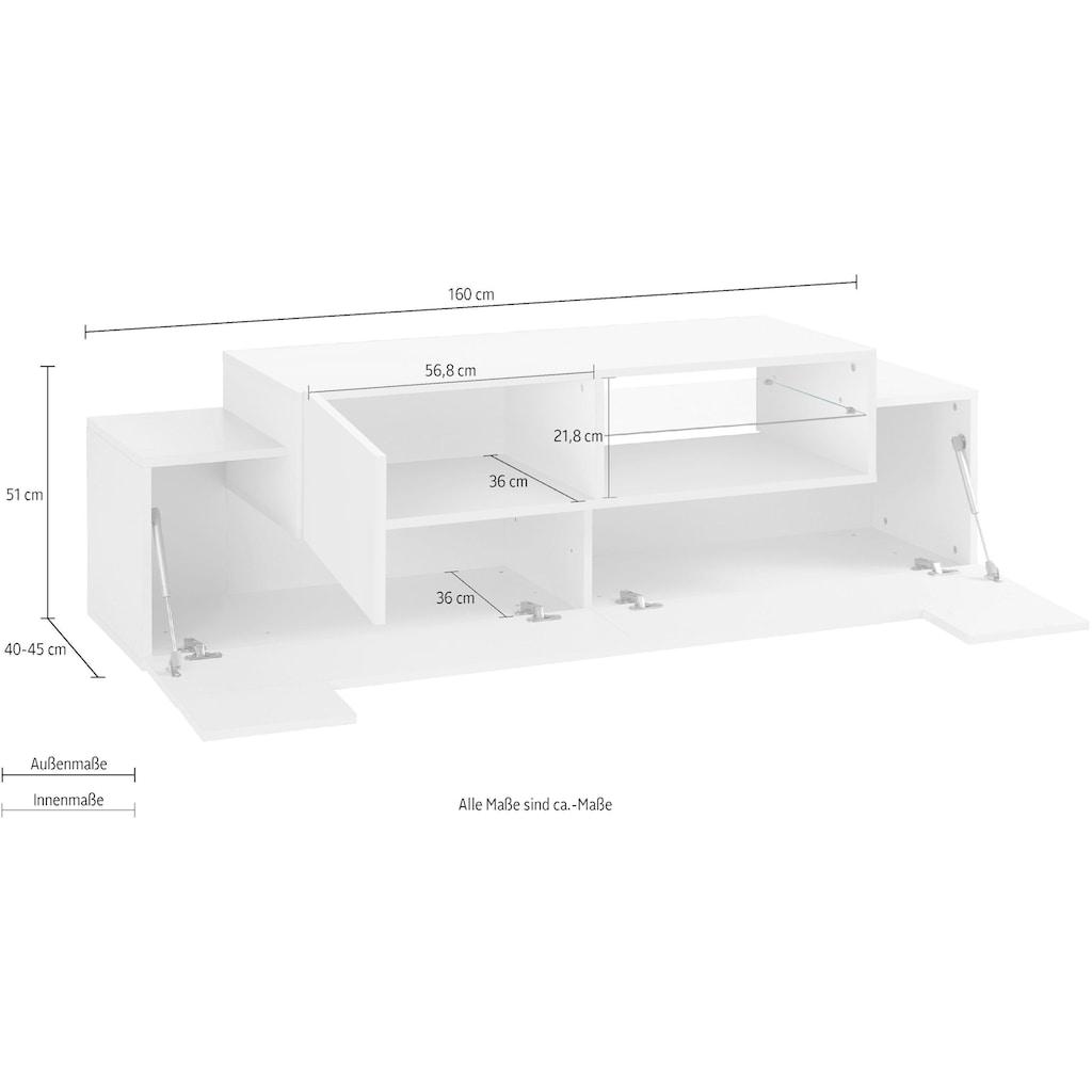 Tecnos Lowboard »Coro«, Breite 160 cm