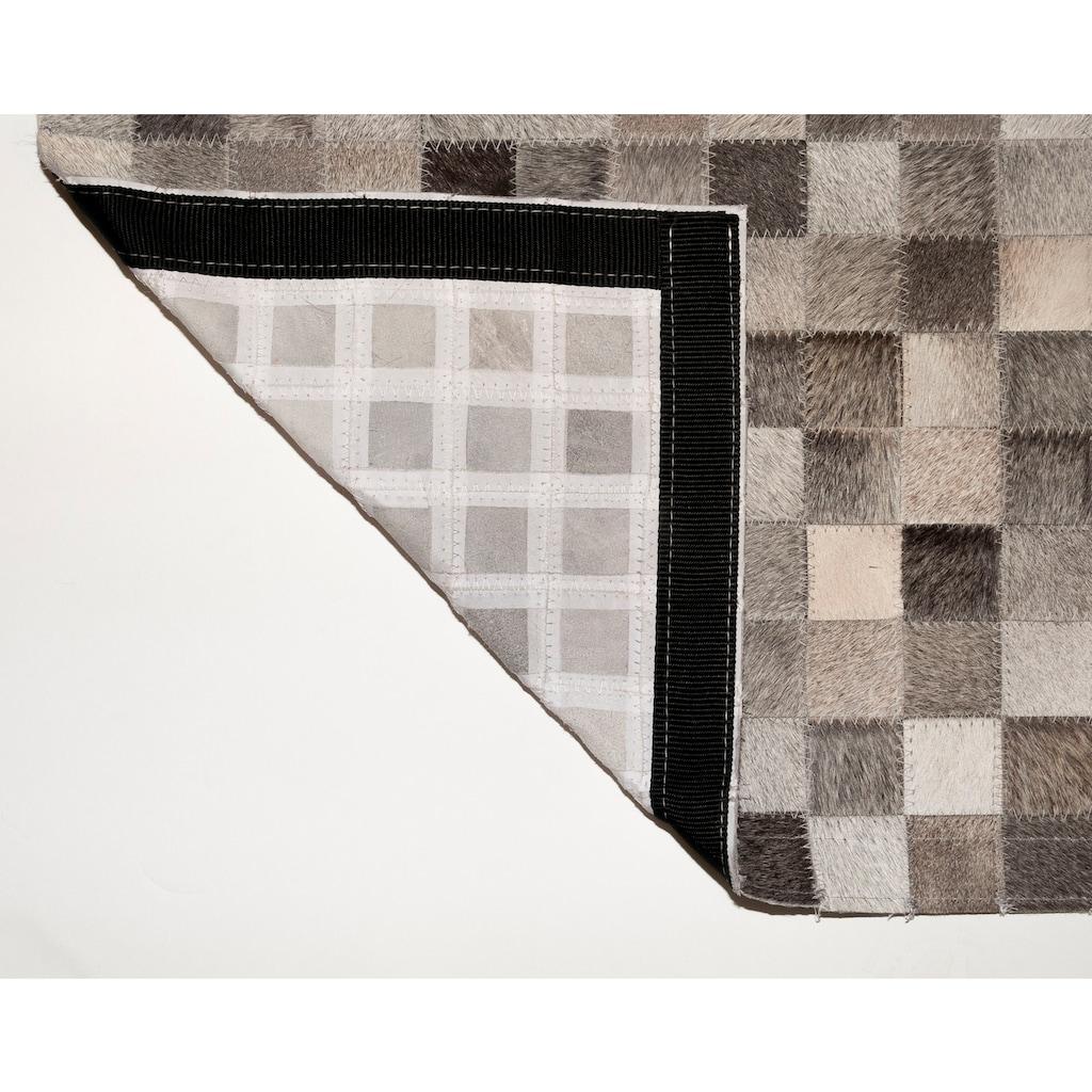 Trendline Fellteppich »Gibralta«, rechteckig, 3 mm Höhe, Patchwork, handgenäht, echtes Rinderfell, Wohnzimmer