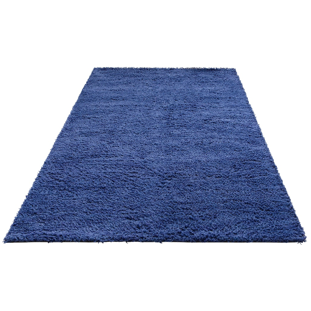 Theko Exklusiv Hochflor-Teppich »Kartal«, rechteckig, 30 mm Höhe, Wollshaggy, Wohnzimmer