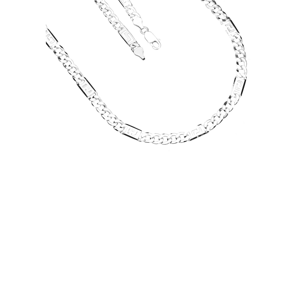 Firetti Silberkette »Glanz, 2-fach diamantiert, langes Kettenglied mit Mäanderdesign«