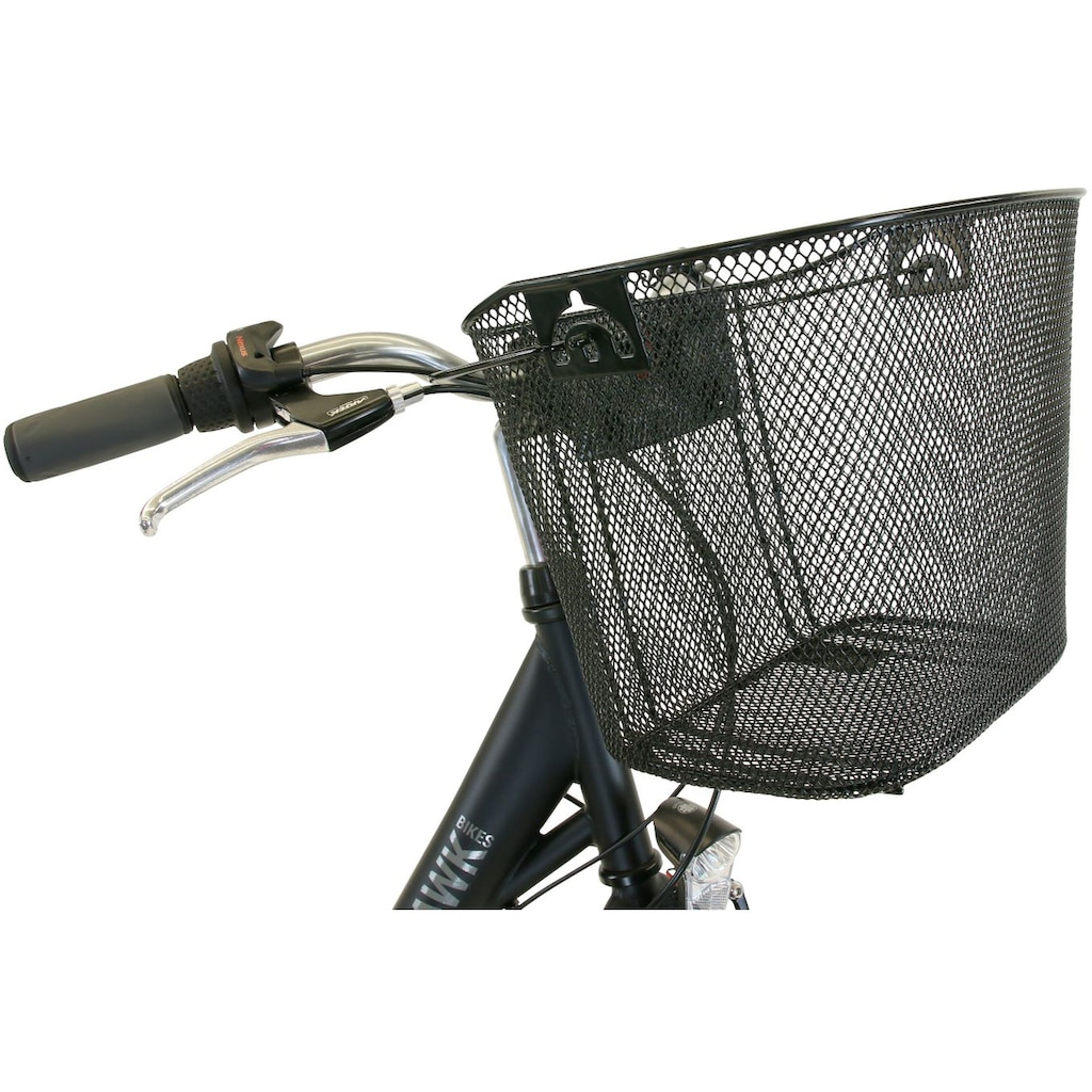 HAWK Bikes Cityrad »HAWK City Wave Premium Plus Black«, 3 Gang, Shimano, Nexus Schaltwerk