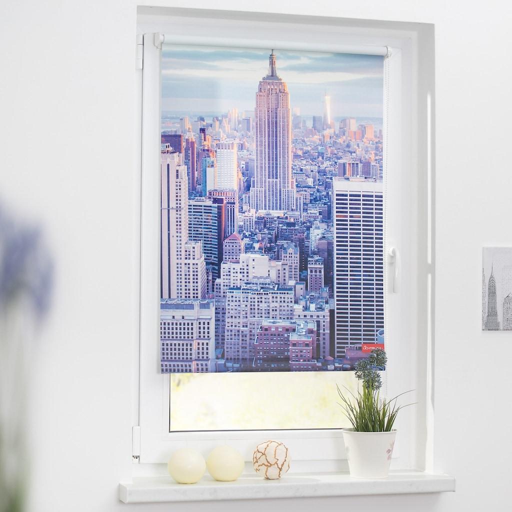 LICHTBLICK ORIGINAL Seitenzugrollo »Klemmfix Motiv New York«, Lichtschutz, ohne Bohren, freihängend, bedruckt