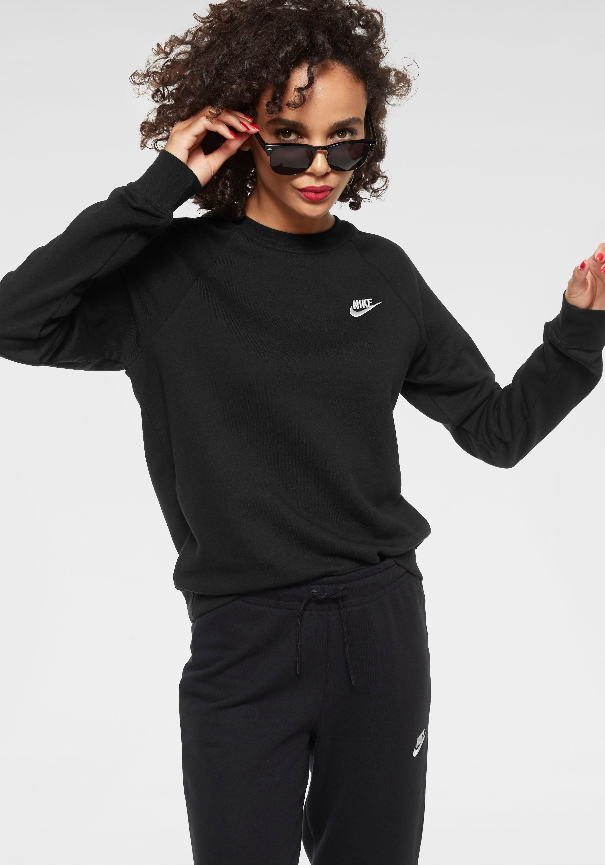 Nike Sportswear Sweatshirt W NSW ESSNTL CREW FLC | Sportbekleidung > Sportshirts > Funktionsshirts | Schwarz | Nike Sportswear