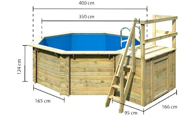 Karibu Achteckpool »Holzpool Gr. 1 Set A« kaufen