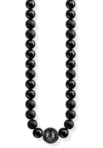 THOMAS SABO Kette mit Anhänger »Power Necklace Schwarz, KE1674-704-11-L100«, mit Obsidian kaufen