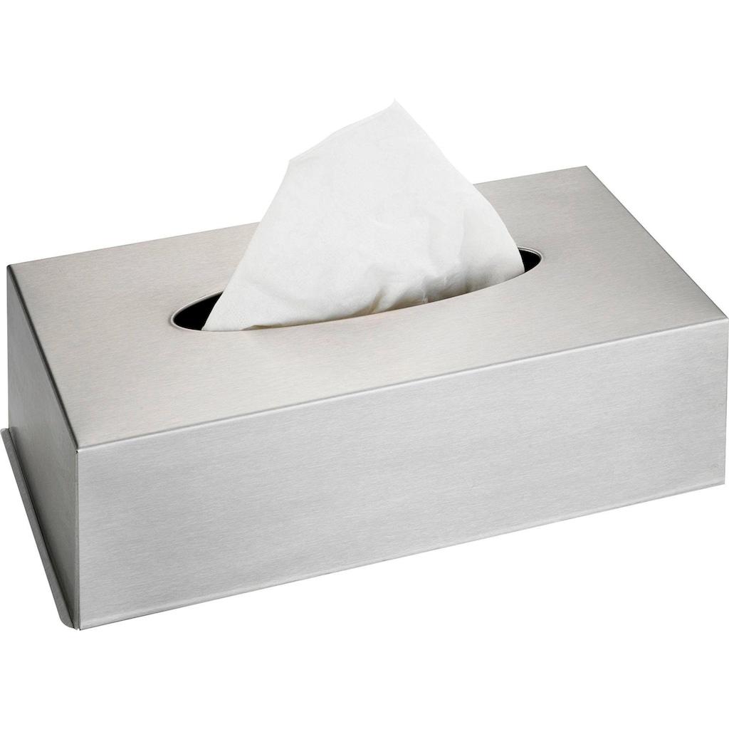 WENKO Kosmetikbox, für Kosmetiktücher, Edelstahl