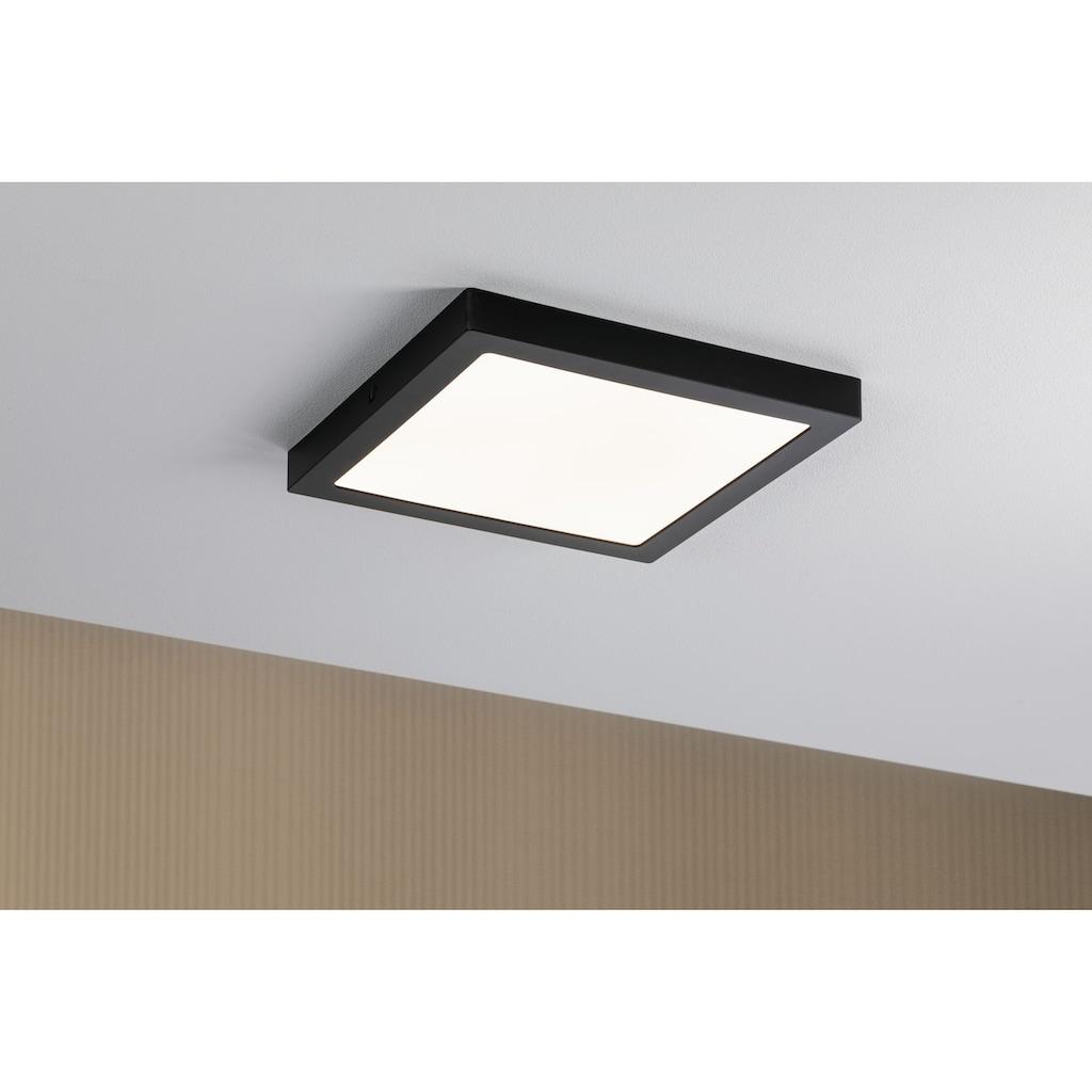 Paulmann LED Deckenleuchte »Panel Abia eckig 300x300mm 22W 2.700K Schwarz matt«, 1 St., Warmweiß