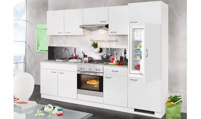 wiho Küchen Küchenzeile »Valencia«, mit E-Geräten, Breite 270 cm kaufen