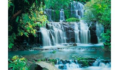 Komar Fototapete »Pura Kaunui Falls«, bedruckt-Wald-geblümt, ausgezeichnet lichtbeständig kaufen