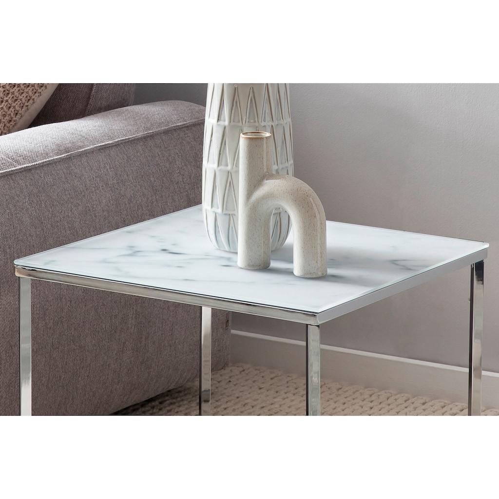 SalesFever Beistelltisch, Tischplatte in Marmoroptik