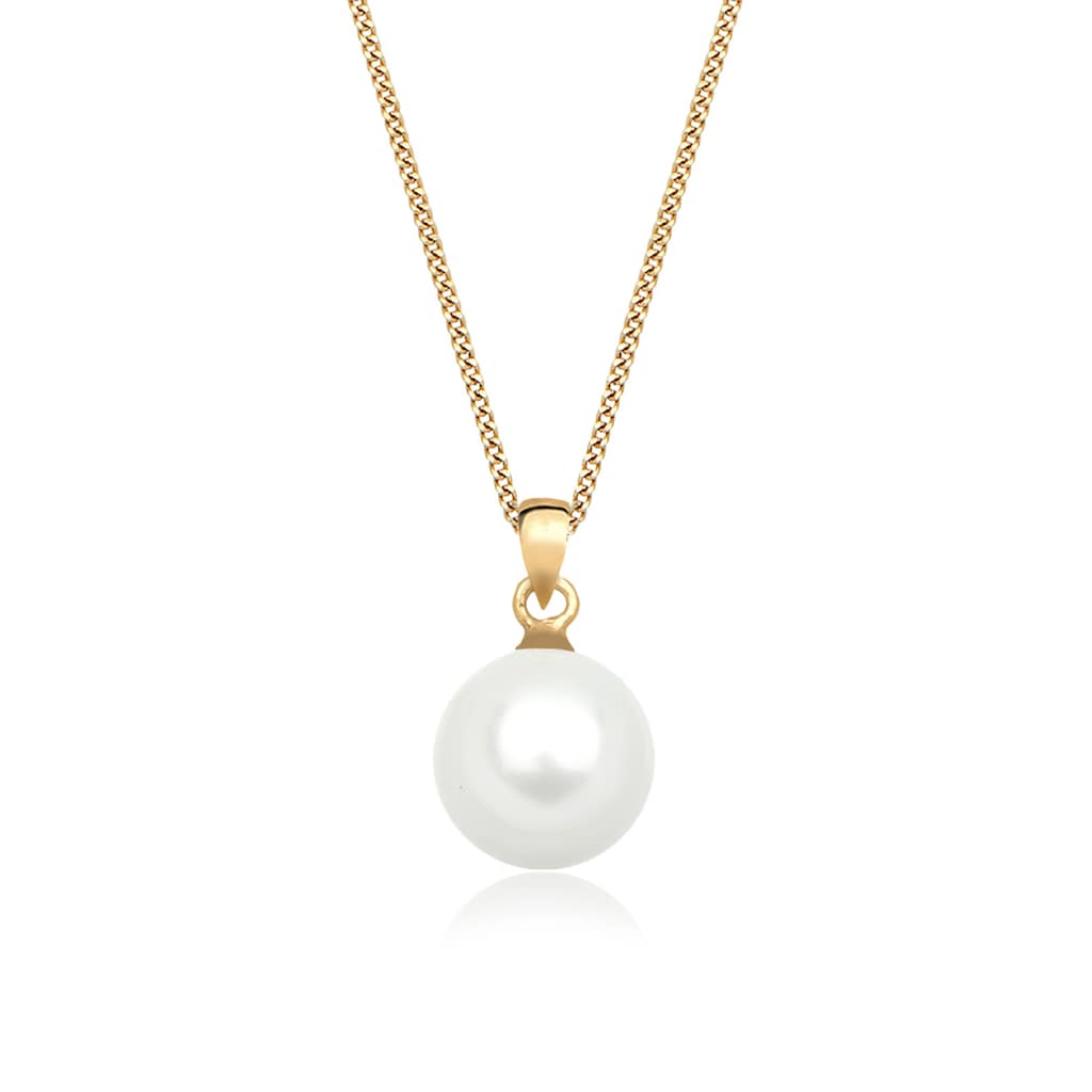 Elli Perlenkette »Muschelkernperle 585 Gelbgold«
