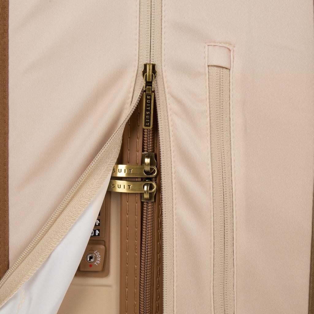 suitsuit Hartschalen-Trolley »Fab Seventies, 66 cm«, 4 Rollen, 4 Rollen, inkl. Travel Kit und Schutzhülle
