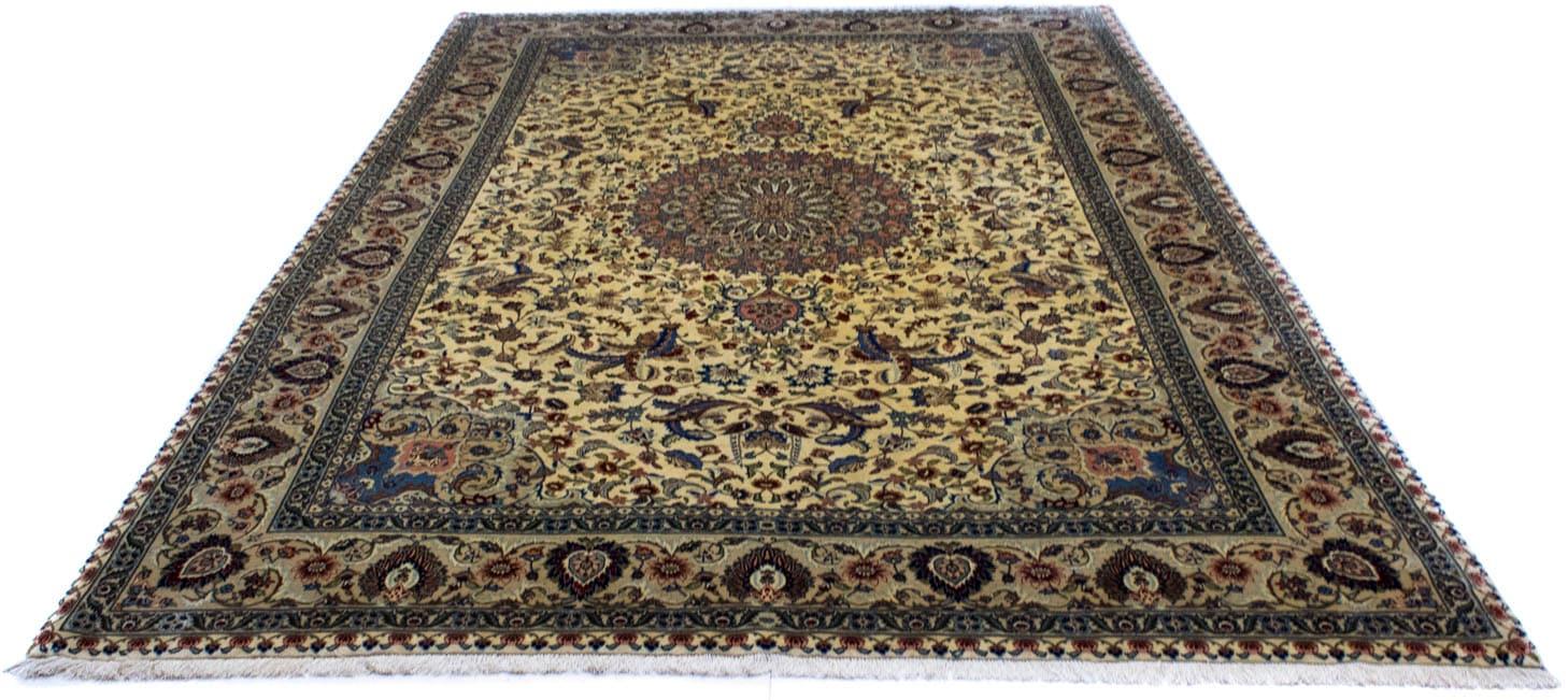 morgenland teppich ghom teppich handgeknuepft beige rechteckig 7 mm hoehe handgeknuepft - USD  2,98 - Auto Mini Anit-Rutsch Matte, Transparentes Partikel-Muster , MiniInTheBox