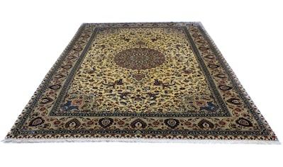 morgenland Teppich »Ghom Teppich handgeknüpft beige«, rechteckig, 7 mm Höhe, handgeknüpft kaufen