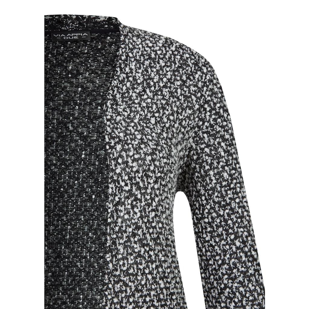 VIA APPIA DUE Modischer Cardigan mit Strukturmuster Plus Size