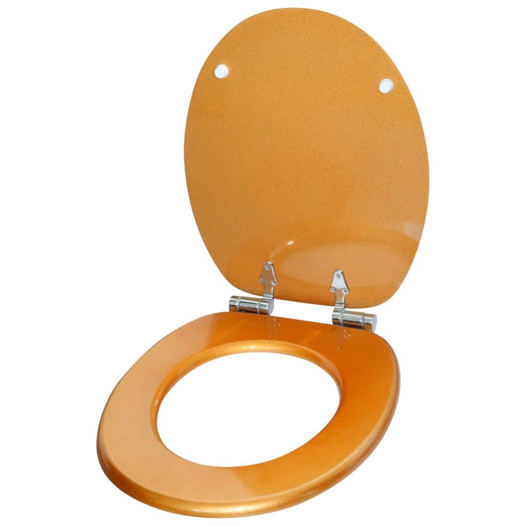 Sanilo WC-Sitz »Glitzer WC-Sitz«, mit Absenkautomatik