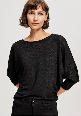 OPUS Langarmshirt »Sitza«, mit weiten Fledermausärmeln kaufen