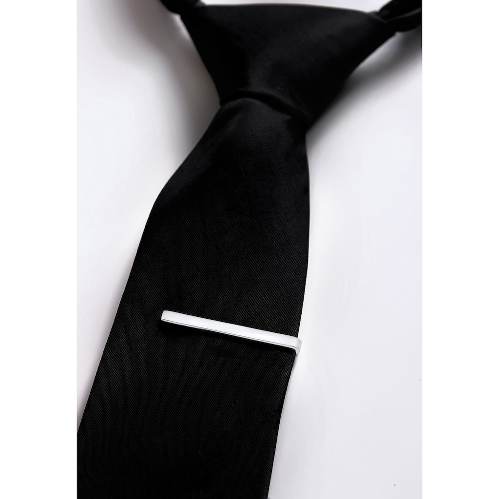 Kuzzoi Krawattennadel Set »Krawattennadel Manschettenknöpfe Basic 925 Silber«