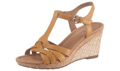 Gabor Sandalette »MILANO«, mit bastbezogenem Absatz kaufen