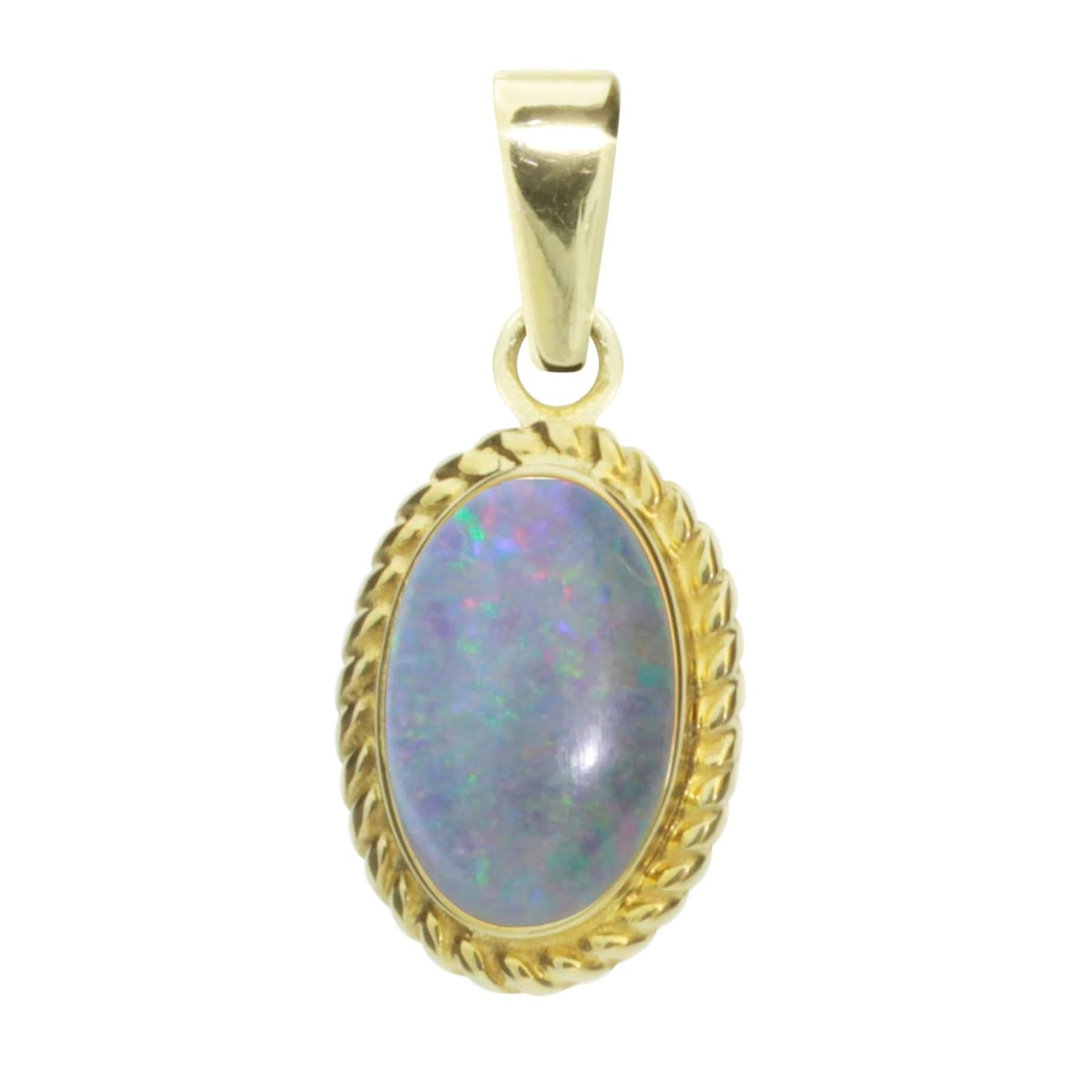 OSTSEE-SCHMUCK Kettenanhänger Julie Gold 333/000 Opal-Triplette | Schmuck > Halsketten | Ostsee-Schmuck