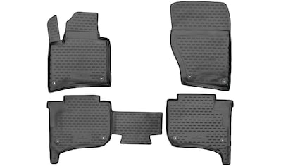 WALSER Passform-Fußmatten »XTR«, VW, Touareg, Geländewagen, (4 St., 2 Vordermatten, 2... kaufen