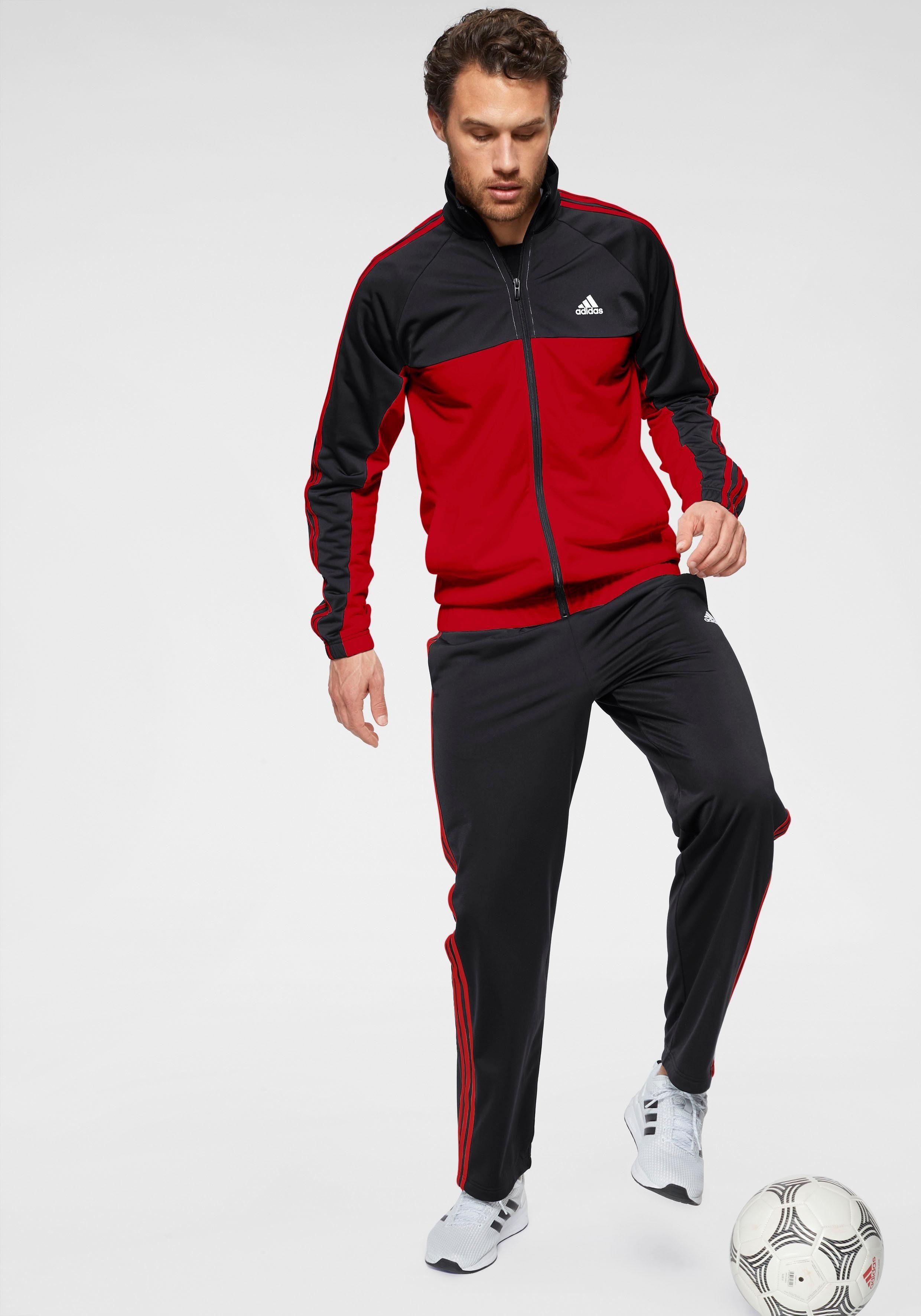 adidas Performance Trainingsanzug OSR P 3 STRIPES TRACKSUIT schwarz Herren