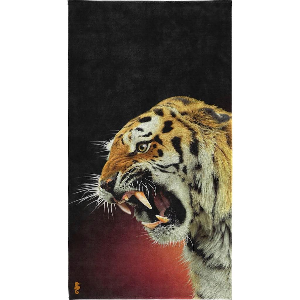 Seahorse Strandtuch »Khan«, (1 St.), mit Tiger Aufdruck