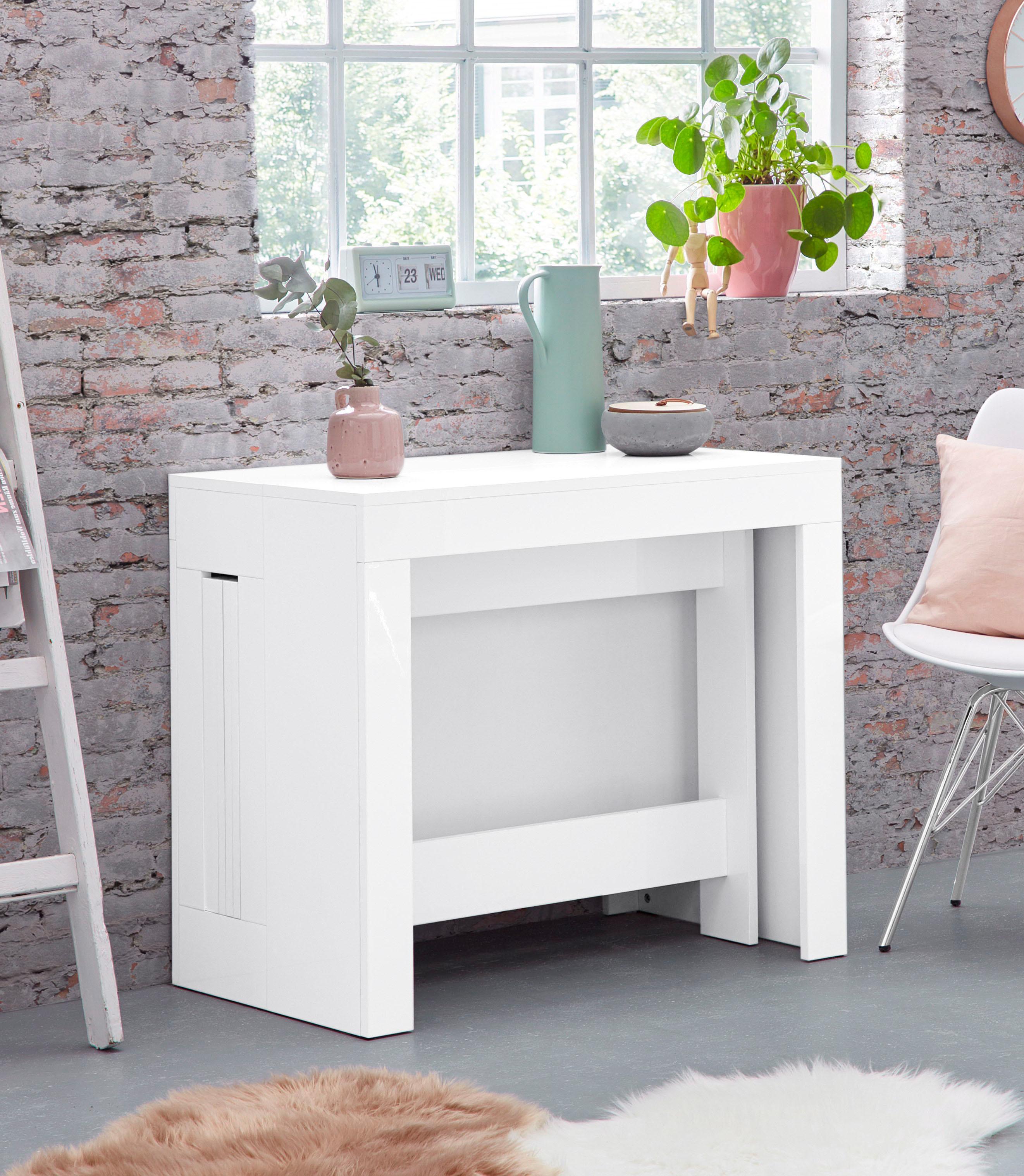 Tecnos Esstisch Praktika, ausziehbar auf 300 cm weiß Ausziehbare Esstische Tische