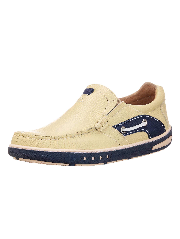 Roger Kent Slipper, im Bootsschuh Stil beige Herren Slipper Sneaker