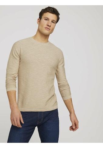 TOM TAILOR Strickpullover »Sweatshirt mit Waschung« kaufen